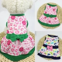 cute big flower printed dog dress big swing skirt soft sleeveless pullover summer pet dog clothes puppy dog costume clothing