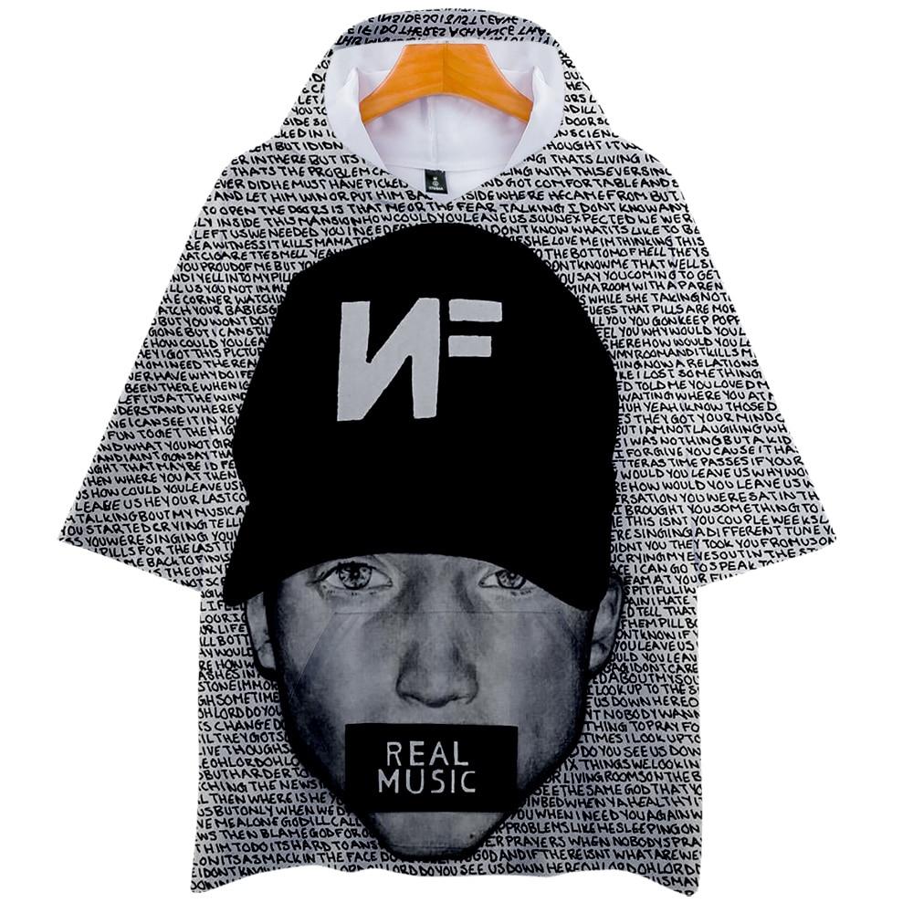 Camiseta con capucha de música Real NF para niños y niñas, camiseta con capucha de rapero Nathan Feuerstein, camiseta de manga corta de Hip Hop, camiseta, ropa
