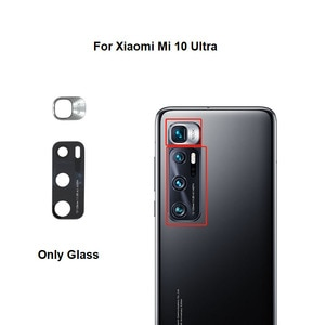 New Rear Camera Glass For Xiaomi Mi 10 Ultra Back Camera Lens Cover With Glue Sticker Adhesive M2007J1SC