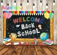 welcome back to school backdrop rainbow kids first day of kindergarten preschool background blackboard classroom teacher party