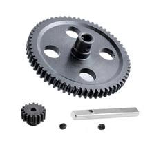Engrenage en métal 0088 principal Diff engrenage moteur pignon engrenages Center 0015 réducteur Kit 62T + 17T pour WLtoys 1/12 12428 12423 RC chenille
