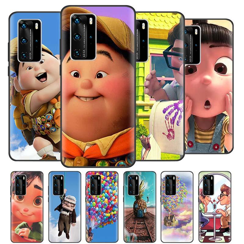 Adventure Up Movie Cases for Huawei P20 P40 Lite E P30 Pro P Smart Z Plus 2019 Case Black Silicone Phone Coque