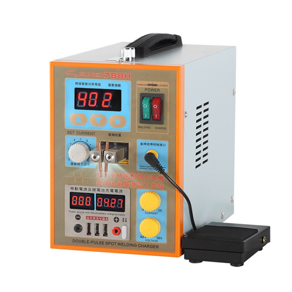 SUNKKO788H  USB Dual-use Battery Spot Welder Pulse Spot Welding Machine for 18650 lithium battery pack production spot welding pulse production technology