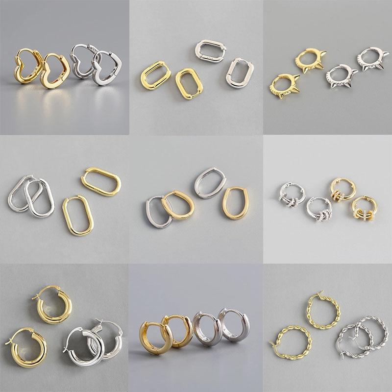 xiyanike-925-Французский-стерлингового-серебра-в-стиле-панк-в-стиле-хип-хоп-с-геометрическим-рисунком-маленькие-серьги-кольца-для-женщин-Цвет-з