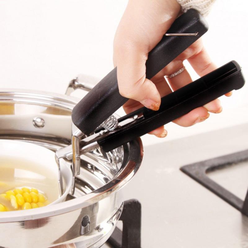 Pinza de plato pinza antiquemaduras olla sartén Retriever pinza de silicona accesorios de herramientas de cocina TXTB1