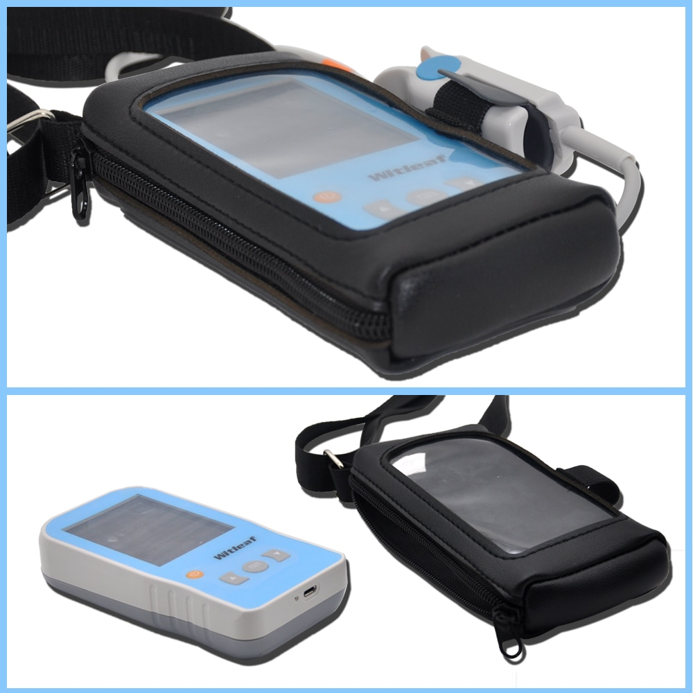 Portable Cortex Protective Case Handheld Pulse Oximeter Zipper Storage Bag Outdoor Sports Crowd Fitness Crowd Medical Personnel