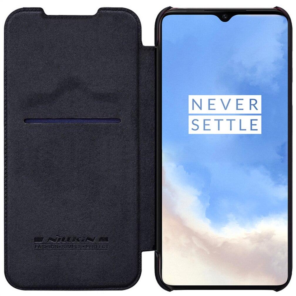 Pour Oneplus 7T Pro étui à rabat NILLKIN QIN housse en cuir à rabat pour Oneplus 7T étui portefeuille coque de téléphone avec poche pour carte