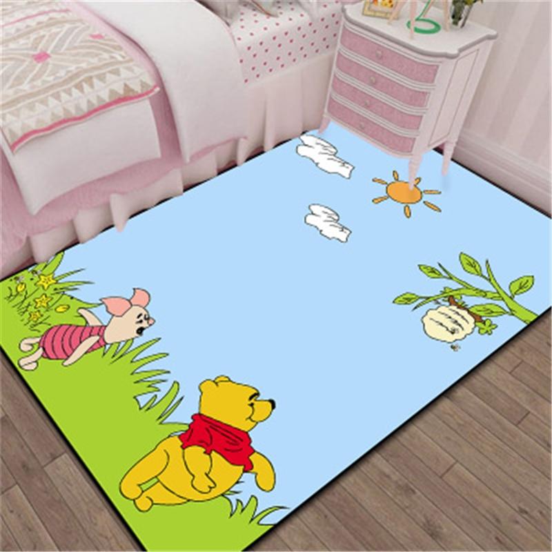 Мультяшный 3D коврик для двери Винни, детский игровой коврик для мальчиков и девочек, кухонный коврик для спальни, коврик для ванной комнаты, ...