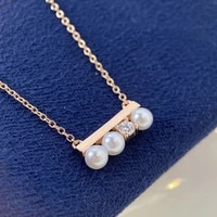 exquisite pearl necklace simple 1 shape pendant fashion rose gold jewelry for women wedding cocktail party charm clavicle chain