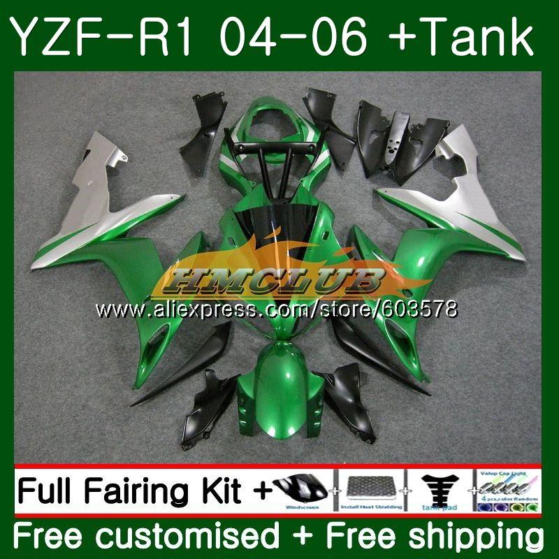 الجسم لياماها YZF R 1 YZF 1000 YZF-R1 2004 2005 2006 اللمعان الأخضر 55CL.11 YZF1000 YZF R1 YZF-1000 YZFR1 04 05 06 ABS هدية