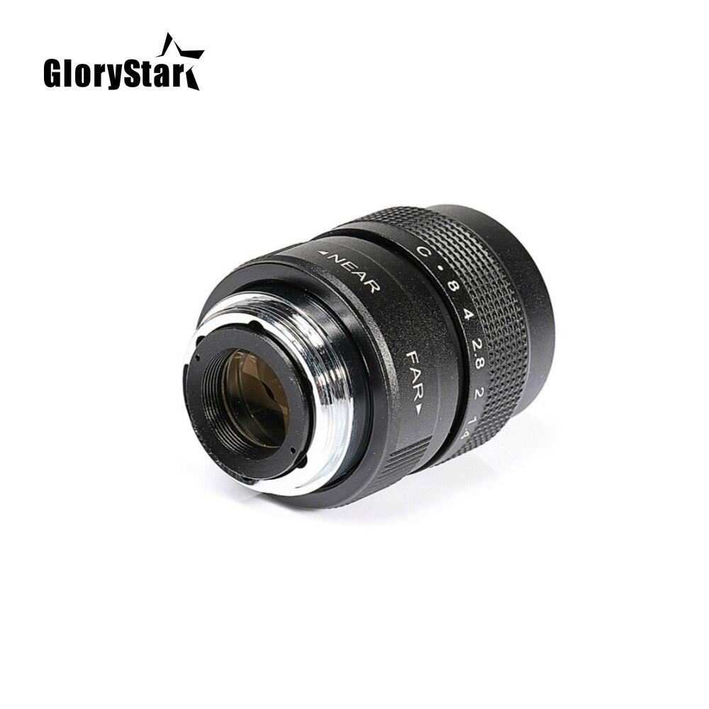 Glorystar 25mm cctv f1.4 tv filme lente + c montagem capa de lente de metal para fujifilm X-E2 / X-E1 / X-Pro1 / X-M1 / X-A2 / X-A1 X-T1 C-FX