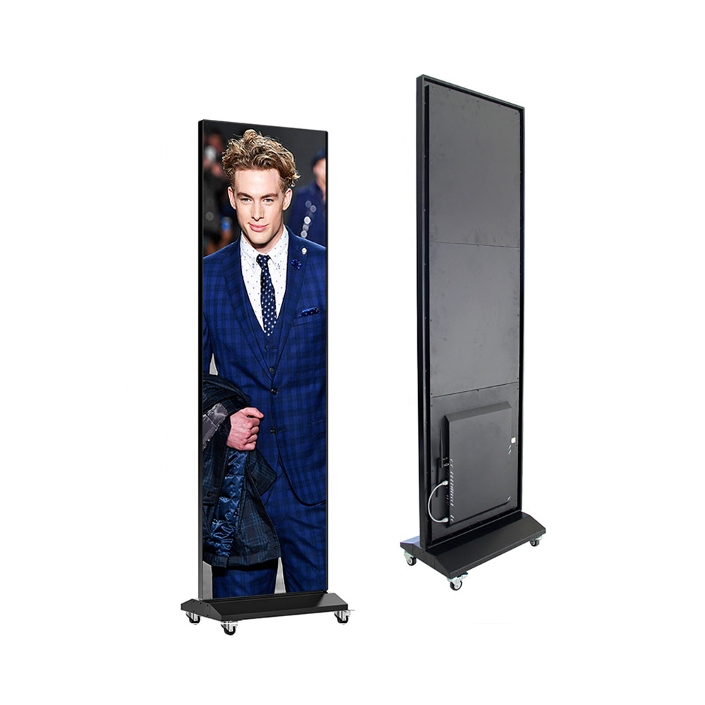 Новый продукт P2.5 светодиодный дисплей для постеров, настраиваемый размер 480*1920 мм/640*1920 мм, светодиодный электронный шкаф для рекламы