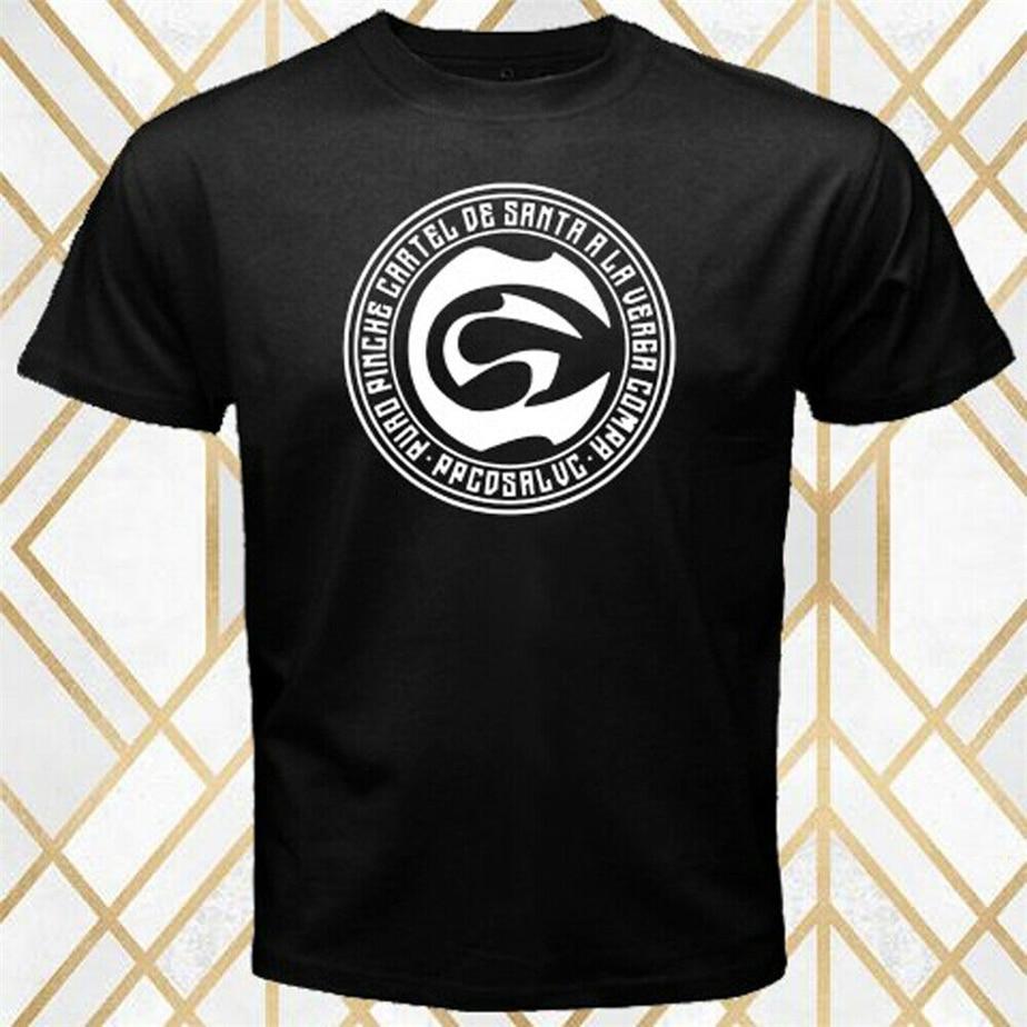 Cartel De Santa Rap Hip Hop grupo Logo hombres negro Camiseta talla S-3Xl Unisex hombres mujeres camiseta