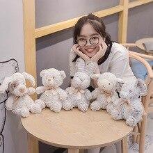 20cm doux poilu éléphant et mouton et lapin en peluche dessin animé Animal ours et chien en peluche poupée bébé dormir jouets enfants cadeaux danniversaire