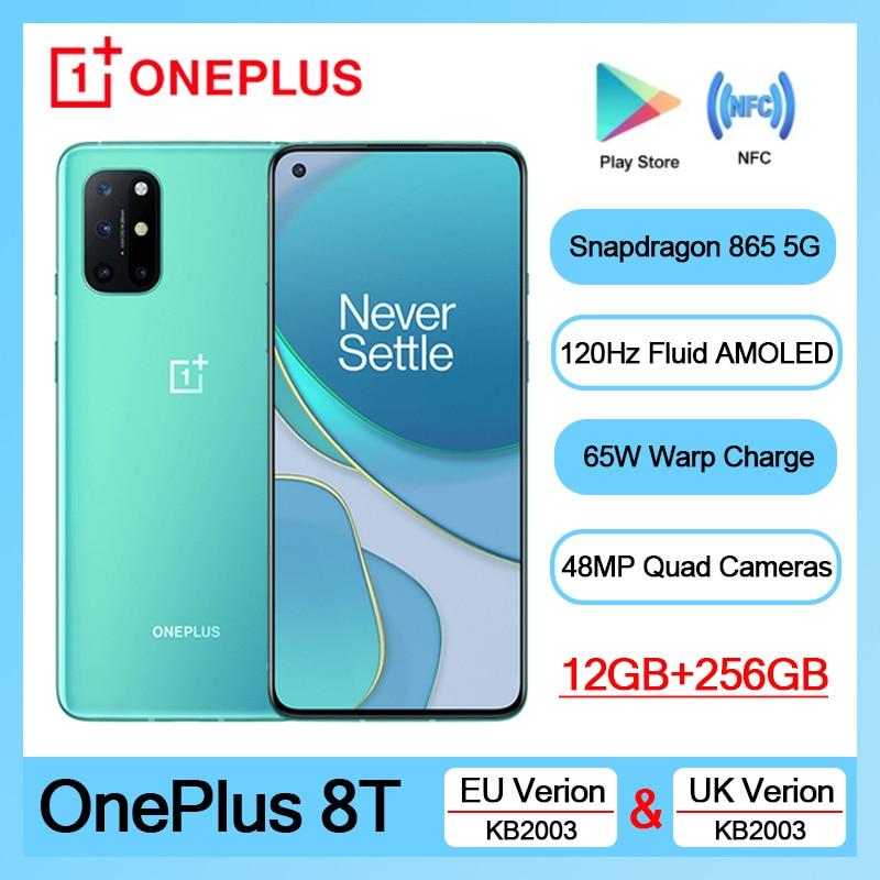 Версия для ЕС смартфон Oneplus 8 T 8 T KB2003 телефон 12 Гб 256 ГБ 120 Гц жидкий AMOLED ди