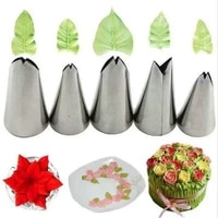 leaves nozzles stainless steel icing