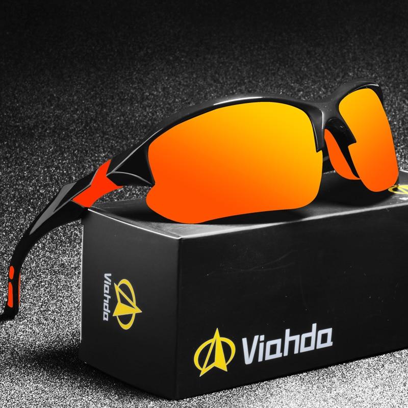 VIAHDA NEW Brand Design Polarized Sunglasses Men Driving Shades Male Sun Glasses For Men Mirror Gogg