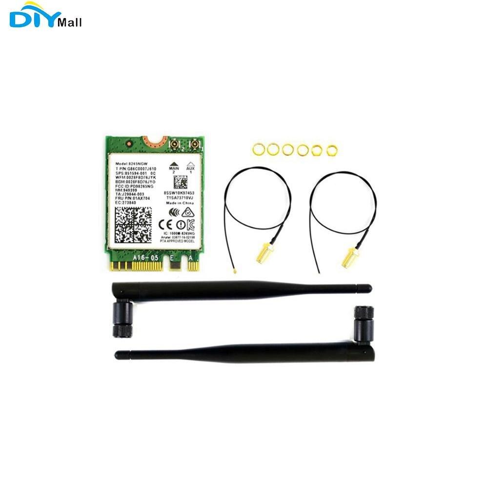 AC8265 inalámbrico NIC 2,4G/5G WiFi/Bluetooth 4,2 para Jetson Nano soporte Linux Windows 10/8 1/8/7/Wireless-AC8265