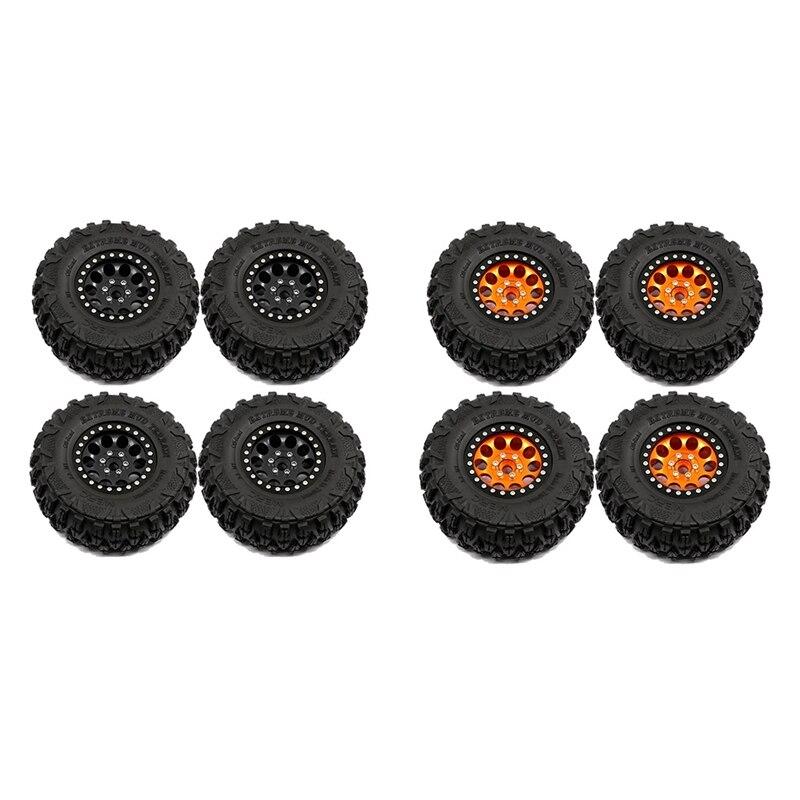 4 قطعة 2.2 بوصة Beadlock عجلة ريم إطارات مجموعة ل 1/10 RC الزاحف سيارة محوري SCX10 RR10 الريث 90048 Traxxas TRX4