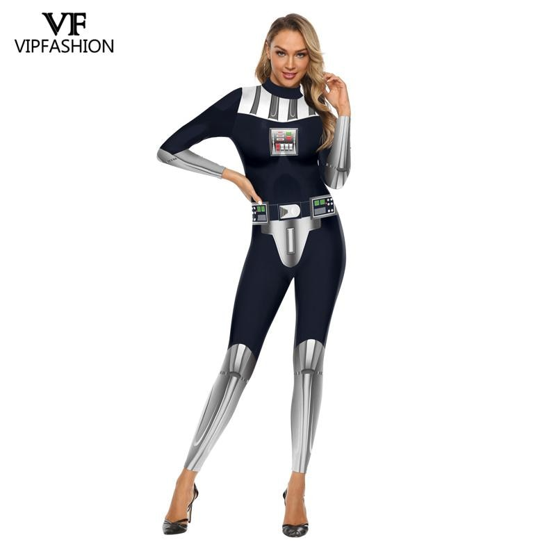 VIP мода для взрослых Звездные войны Косплей Дарт Вейдер Анакин Скайуокер косплей костюм плащ Ahsoka Tano War Хэллоуин женские комбинезоны