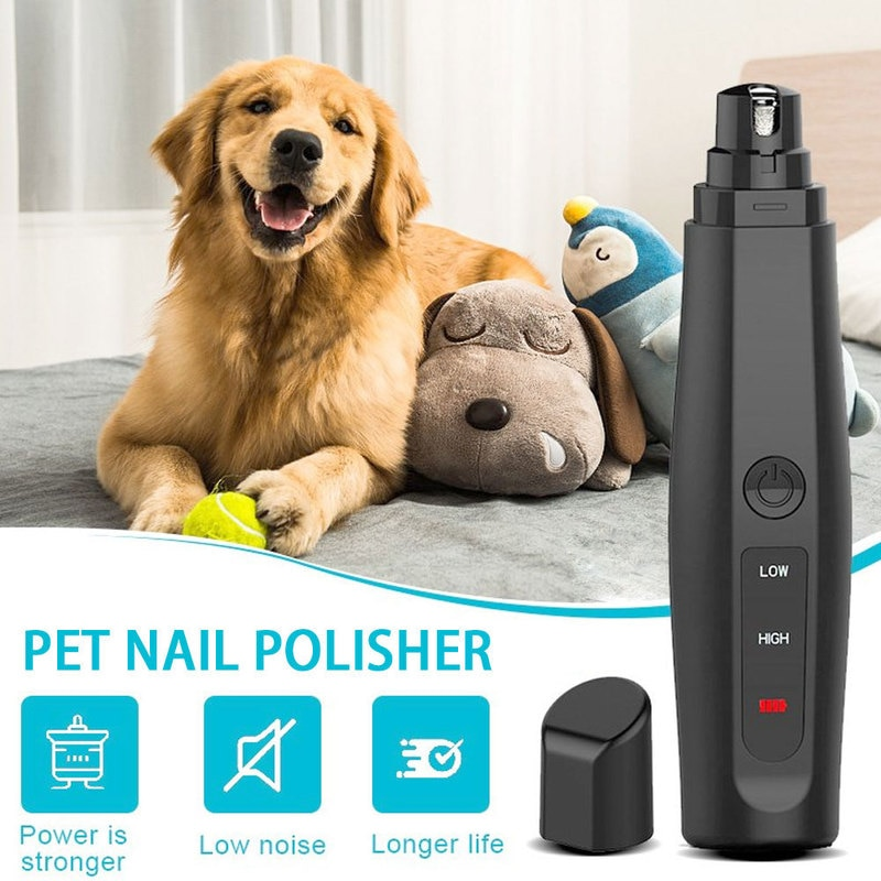 Professional Electric Dog Nail Grinder Portable USB Rechargeable Pet Paw Painless Grooming Trimming for Pets Claw Nail Clipper