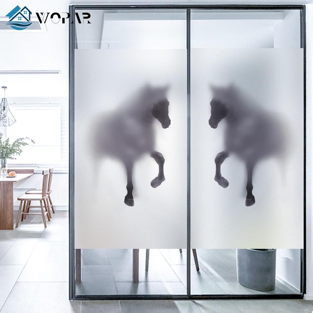 WOPAR матовая тонированная оконная пленка, животное лошадь, импрессионизм, Скандинавское искусство, модная непрозрачная тонированная оконна...