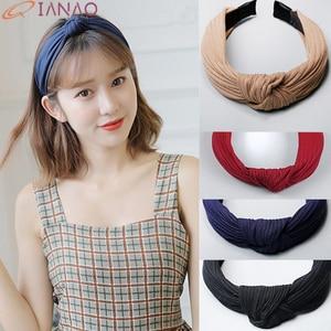 QIANAO New Cross Knot Hairband Headband for Women Fashion Turban Striped Hair Band Sweet Girls Hair Headband Hair Accessories