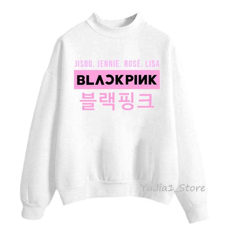 Kpop Blackpink Sudadera con capucha mujer Harajuku LISA JISOO JENNIE Rosa 90s streetwear mujeres chándal de moda con capucha de invierno ropa coreana