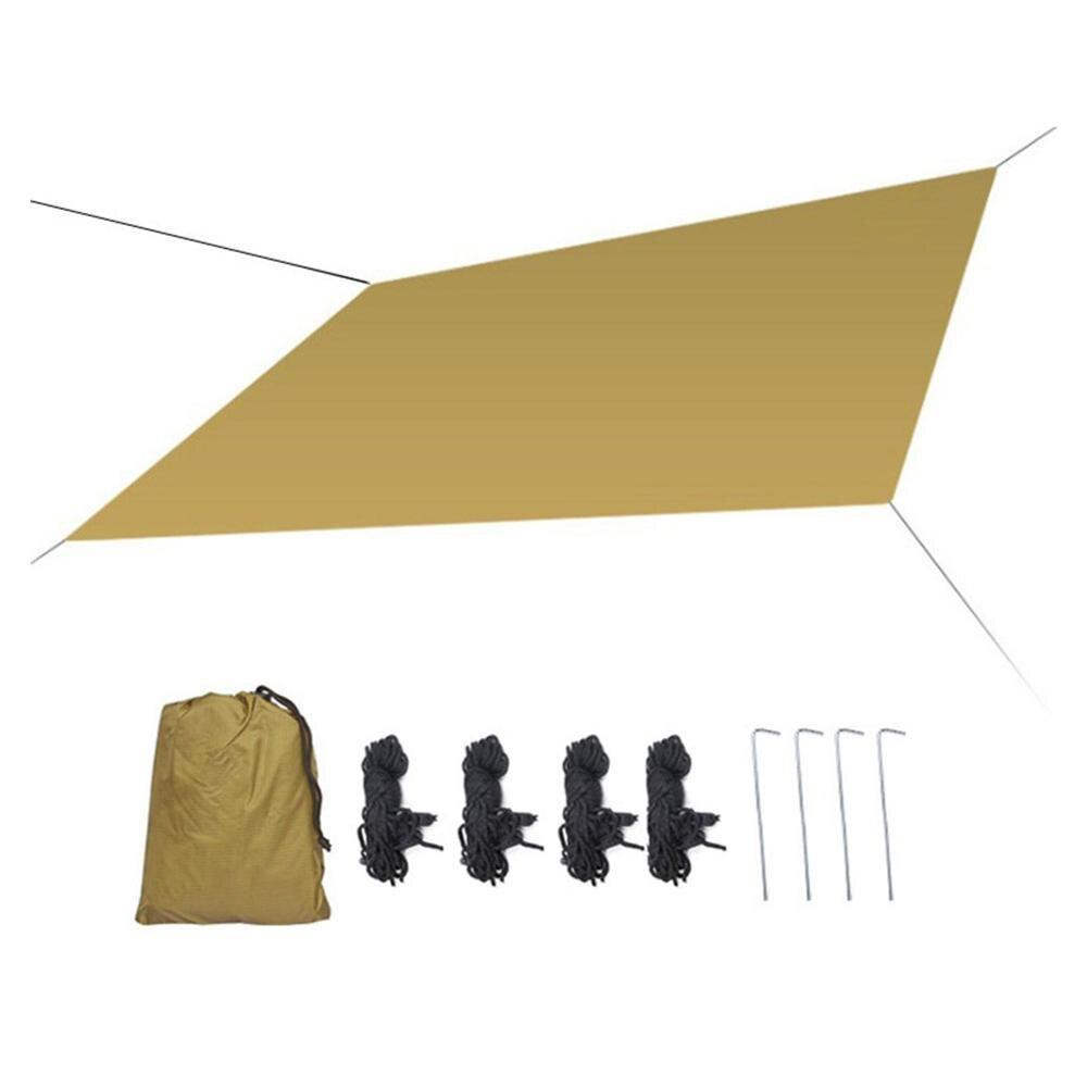 Купить с кэшбэком Outdoor Shade Cloth Sky Curtain Camping Waterproof Sunscreen Outdoor Products Tent Beach Shade Cloth 30P