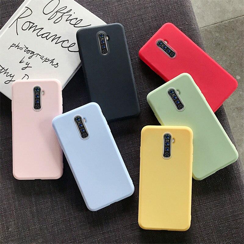 Fashion Candy Case for OPPO Reno 2 X 10X Case OPPO Realme X2 3 3i 5 Pro Q XT Z5X F11 F7 F5 A1K A5 A7 A7X A9 Soft Silicone Cover
