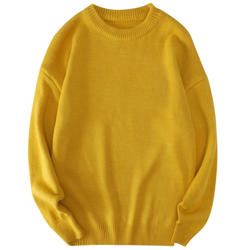 Big Size Men Sweater Korean Clothes Men's Jumpers Oversized Mens Sweaters Pullover Knitted Streetwear Comfortable Soft Knitwear