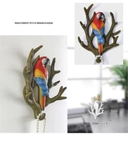 wall decoration home accessories hook resin bird hook door key hook wall hanging parrot decoration hook coat hat hook home rack