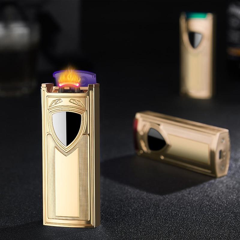 Mechero eléctrico de Metal con Usb, Encendedor de cigarrillos a prueba de...