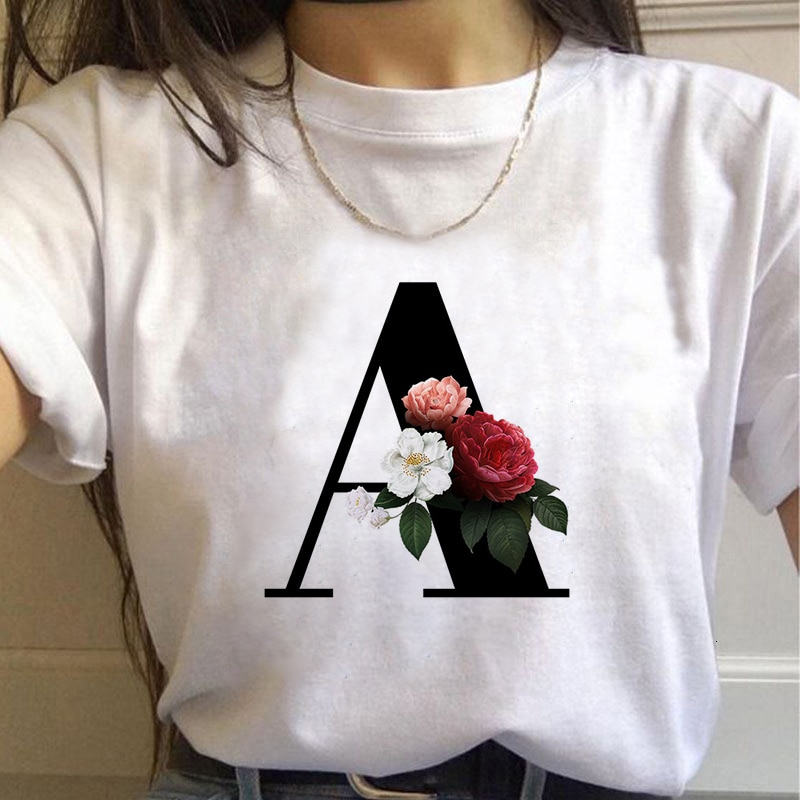 AliExpress - Summer Letter Printed Women T-shirt Woman Harajuku Short-Sleeved O-Neck Tees Shirt Girl Summer Tee Top Femme Tshirt