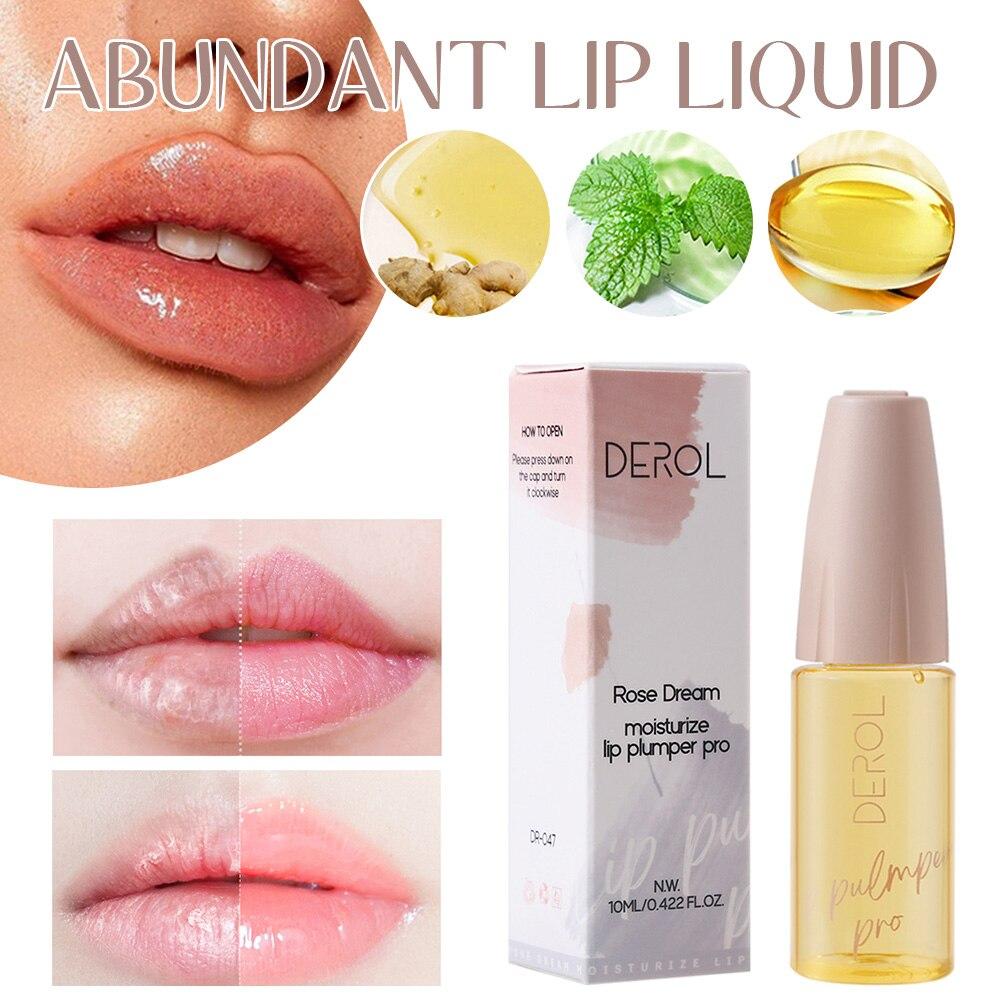 Lip Plumper Oil Lasting Nourishing Repairing Reduce Lip Lines Moisturize Hydrate Lip Care Serum for Fuller Look