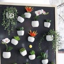 Aimants pour réfrigérateur en pot plantes succulentes vertes artificielles bonsaï ensemble faux vase à fleurs Souvenir tableau noir autocollants magnétiques