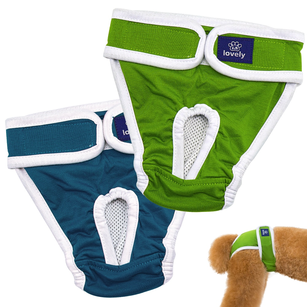 Dog Diapers Physiological Pants Washable Female Dog Shorts Soft Girl Dogs Pants Pets Underwear Sanit
