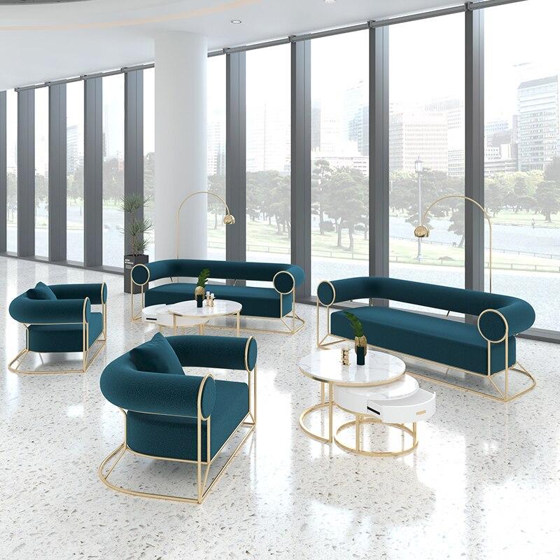 Офисные кресла в скандинавском стиле, двойные кофейные диваны, комбинированные стулья для балкона, простые деловые Приемные, подлокотники ...
