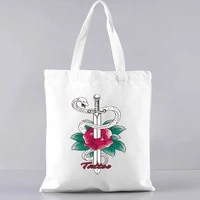 reusable shopping bag shoulder bags with handle womens beach bag shoppers shopper with print handbags handbagspecial purpose