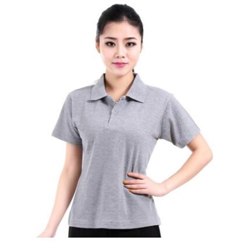 Frauen Revers Half-Hülse T-Shirt
