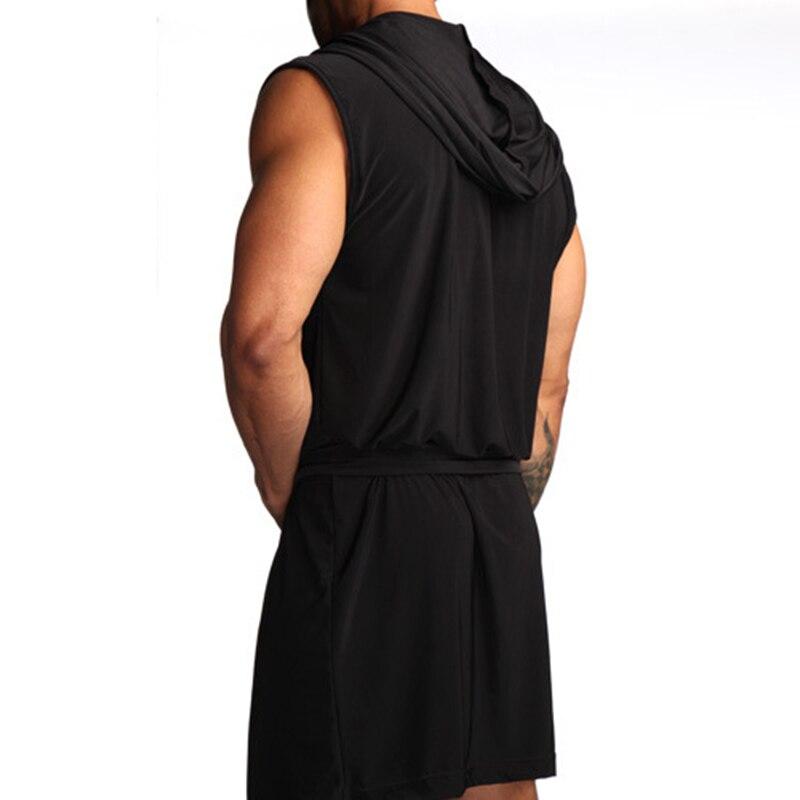 Горячая продажа мужчины халат сексуальная пижамы ночное белье ночная рубашка одежда для сна Hombre с капюшоном ванна халат мужчины купание халат плюс размер