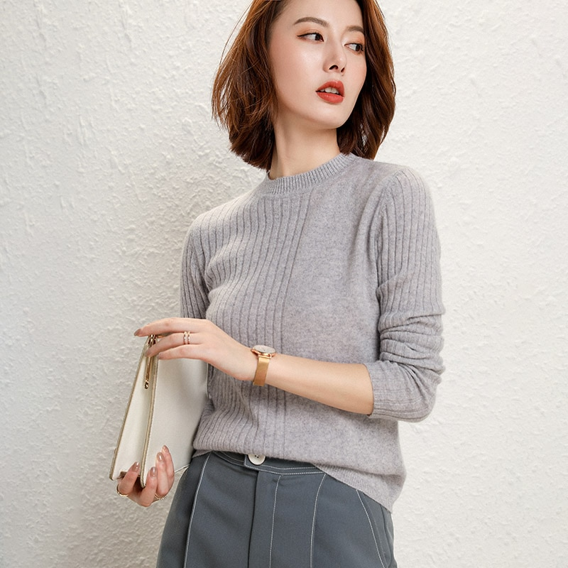 adishree 2021 woman winter 100% Cashmere sweaters and autumn knitted Pullovers High Quality Warm Female thickening O-neck enlarge