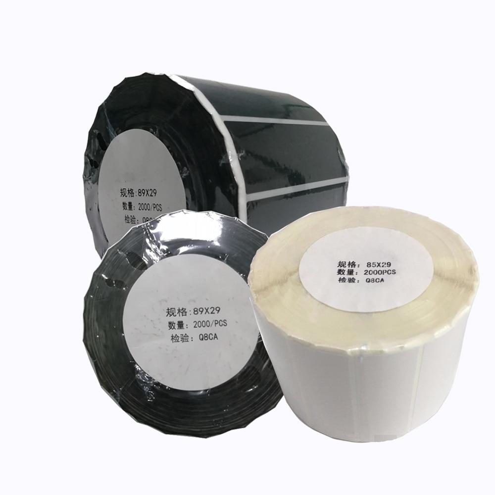 ملصقات HSPOS Per Roll للهواتف المحمولة ملصقات Imei الحرارية تسمية الباركود تسمية الطباعة المباشرة باللون الأسود والأبيض الشفاف