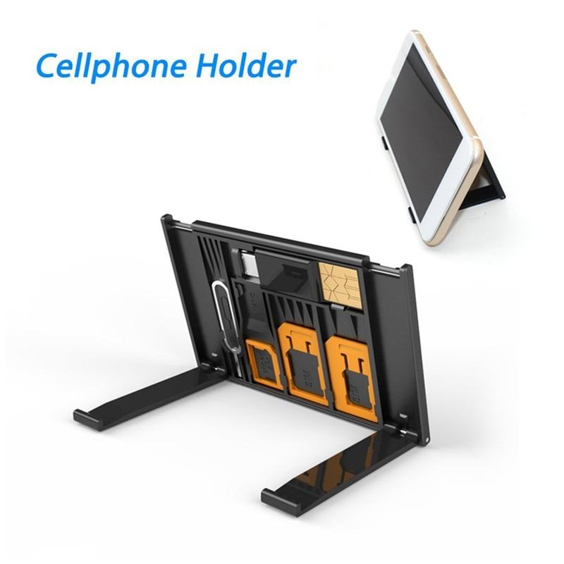 Многофункциональный мобильный телефон микро сим-карты Nano Стандартный сим-карты для хранения Чехол легкий 2-в-1 TF карт ридер с эффектом прибл...