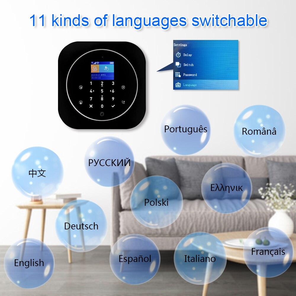 G12 Tuya WiFi GSM Alarm Security System with PIR Detector Door Sensor Compatible Alexa & Google Smart Home Wireless Alarm Kits enlarge
