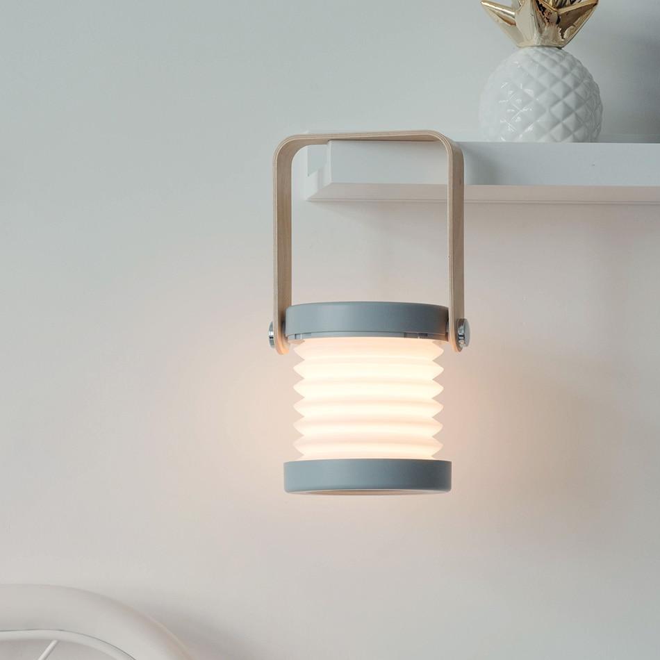 Luz led portátil com alça lanterna ao ar livre dobrável regulável interruptor de toque luz leitura cabeceira portátil lâmpada led