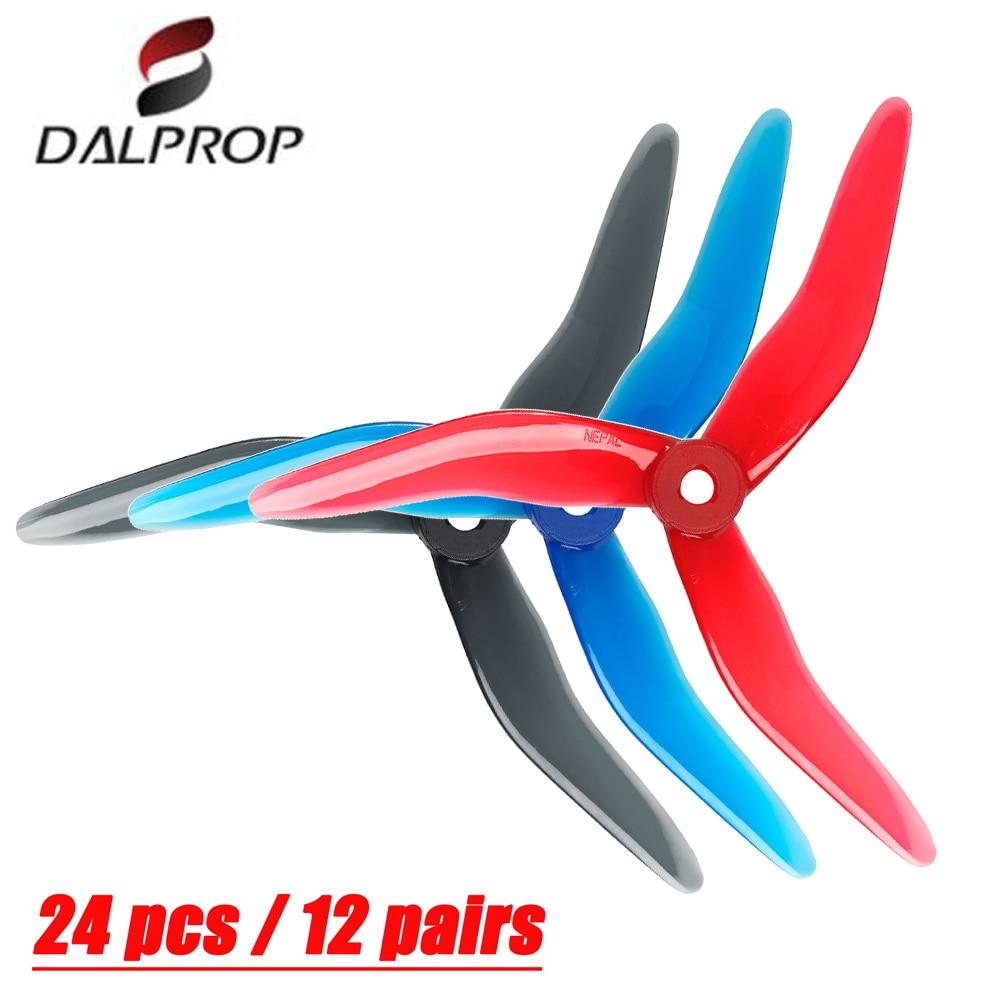 24 pçs/12 par dalprop nepal n1 5143 3 lâmina fpv hélice cw ccw popo freestyle para rc zangão fpv corrida