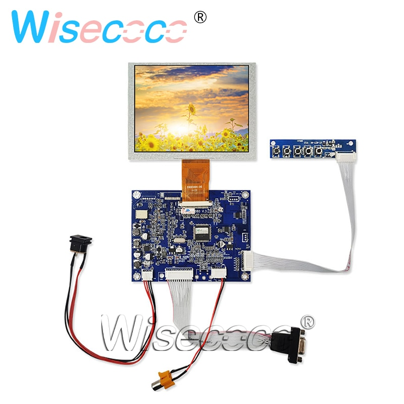 5 pulgadas 640x480 pantalla LCD ZJ050NA-08C VGA AV LCD controlador tablero
