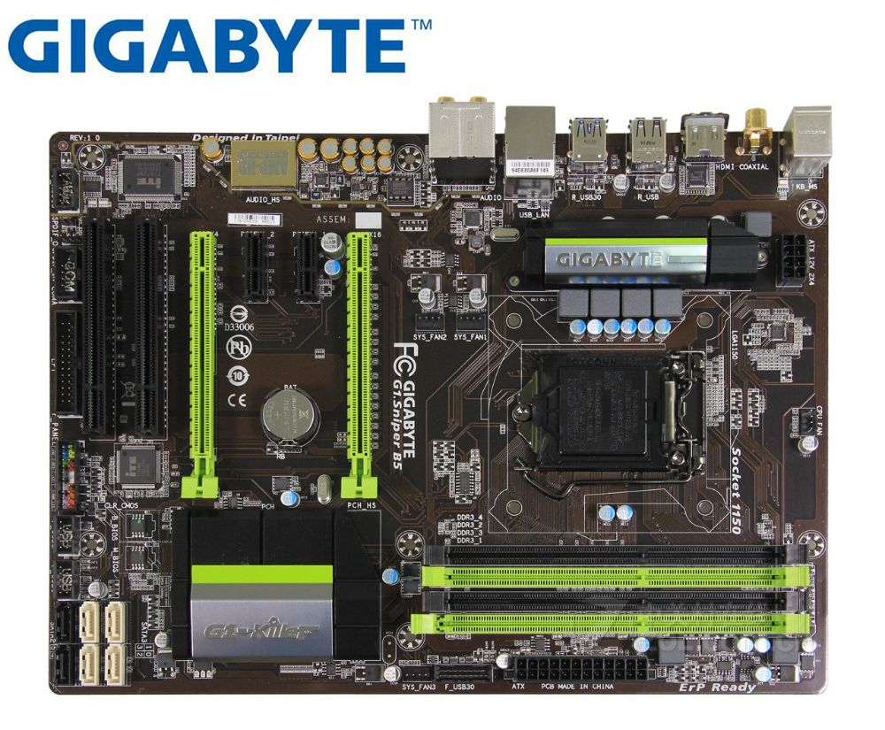 Gigabyte G1.Sniper B5 Desktop mother original motherboard GA-G1.Sniper B5 DDR3 LGA 1150 für I3 I5 I7 16G B85