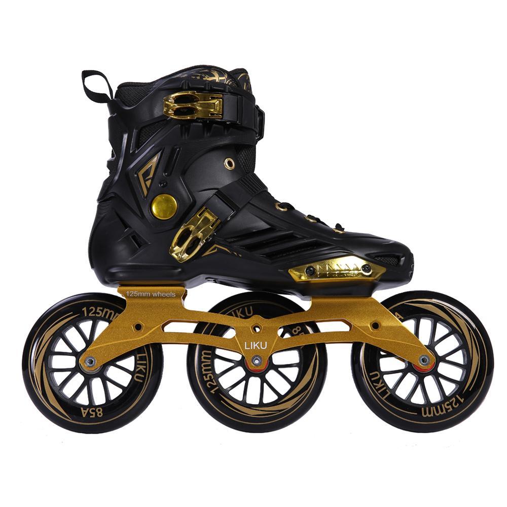 Трёхколесные коньки, высококачественные профессиональные женские роликовые коньки для мальчиков, однорядные, Новые Большие колесные конь...